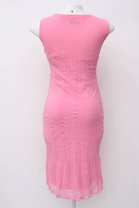 Vestido midi rosa arte & cor_foto de costas