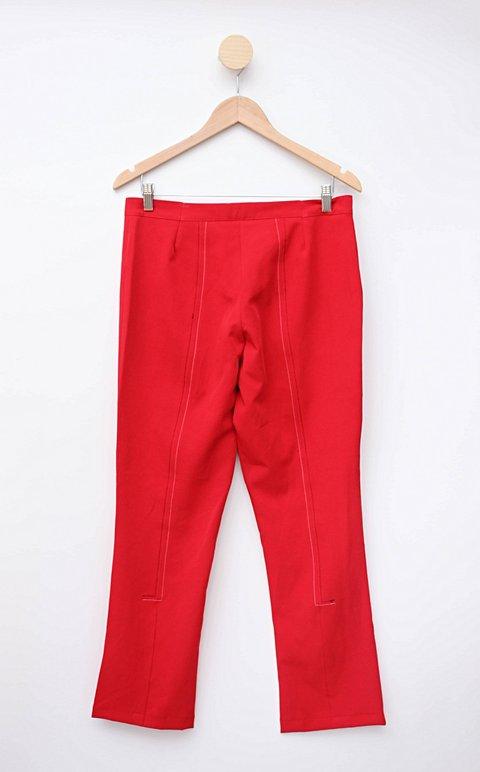 Calça Social vermelha larizze_foto de costas