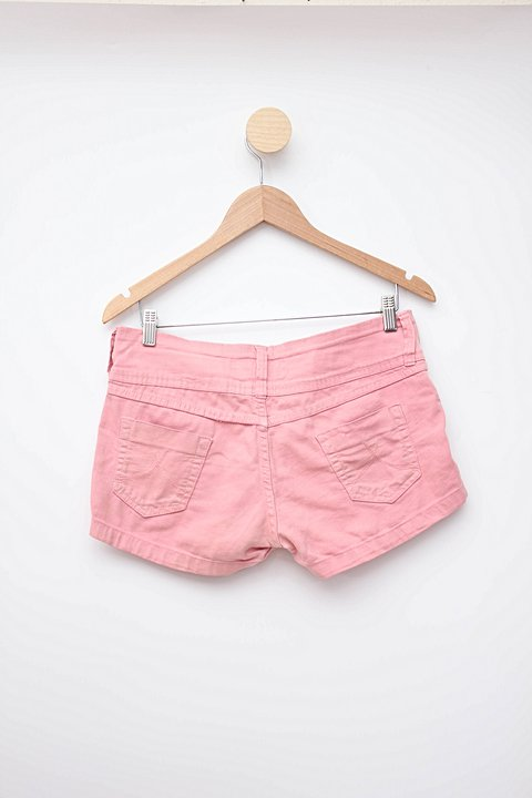 Shorts rosa peoples_foto de costas