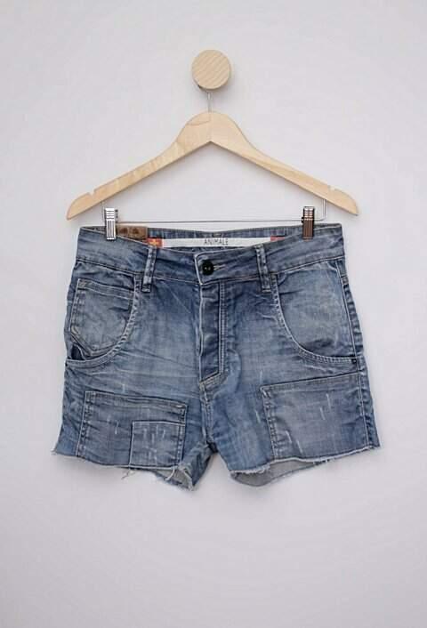 Shorts jeans azul animale_foto principal