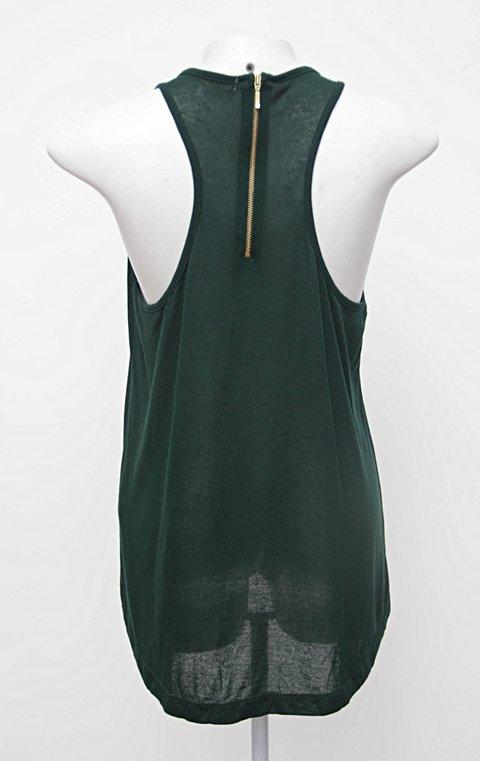 Regata verde com ziper bobstore _foto de costas