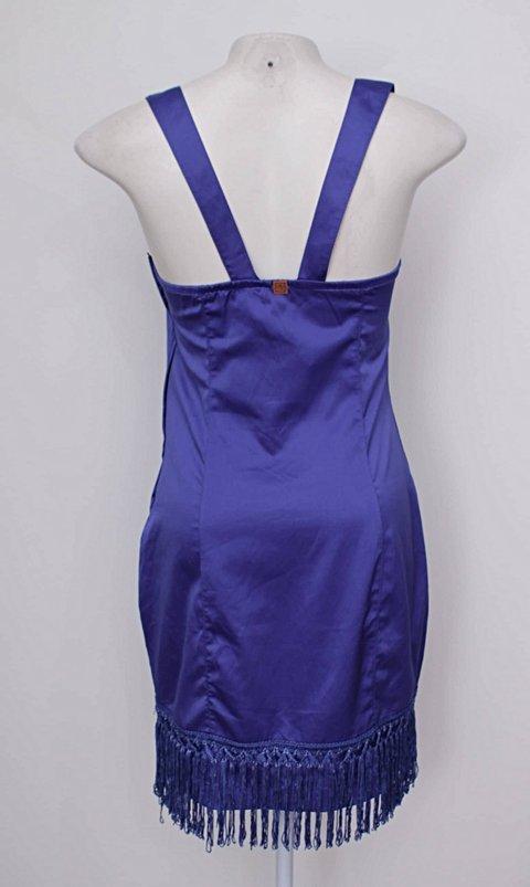 Vestido azul pré estreia_foto de costas