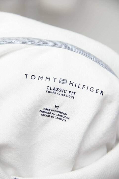 Camisa Polo branca tommy hilfiger_foto de detalhe