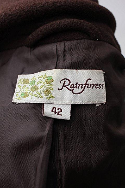 Sobretudo marrom rainforest_foto de detalhe