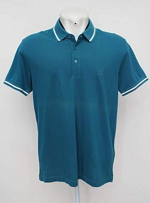 camisa Polo azul zegna sport_foto principal