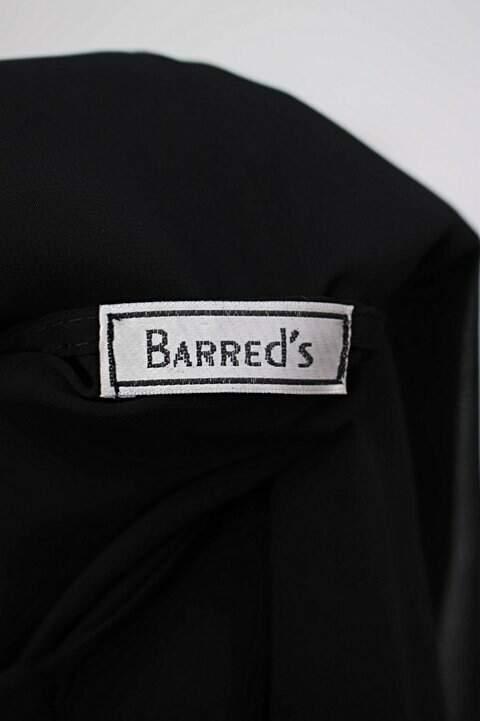 Regata de chiffon preta barred's com Transparência_foto de detalhe