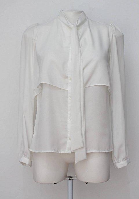 Camisa branca com laço amaro_foto principal