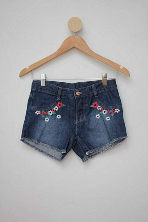 Shorts jeans bordado hering_foto principal