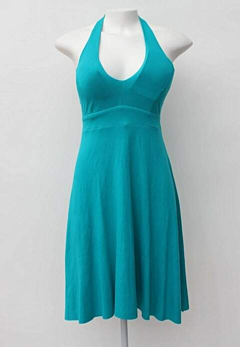 Vestido Azul Turquesa Invenção Com Bojo
