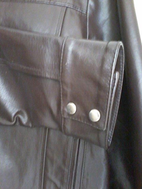 Jaqueta de Couro Marrom Masculina_foto da etiqueta