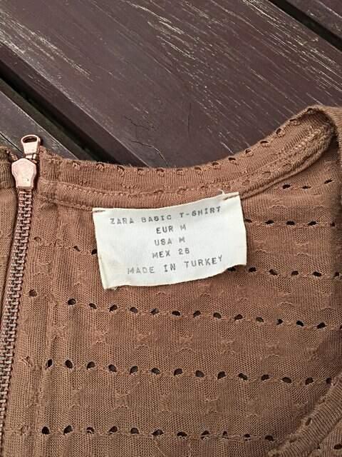 Blusa Zara básica Bege_foto de detalhe