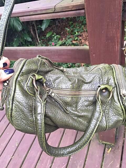 Bolsa de Alça verde oliva  _foto de frente