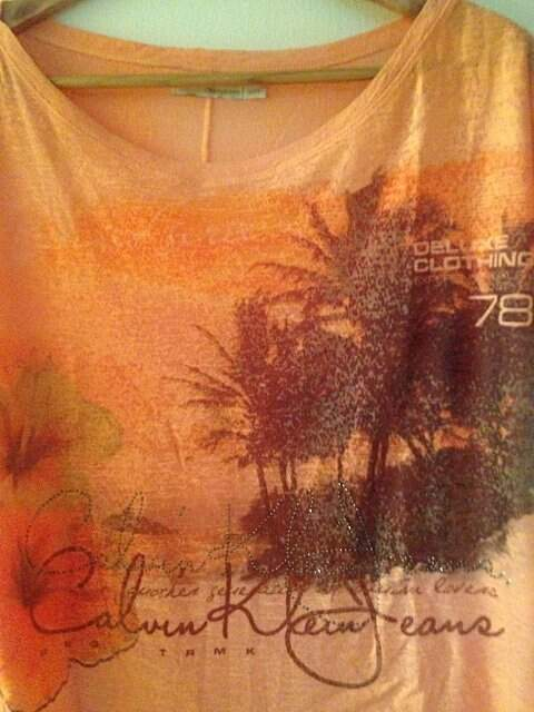 Blusa Calvin Klein Orange_