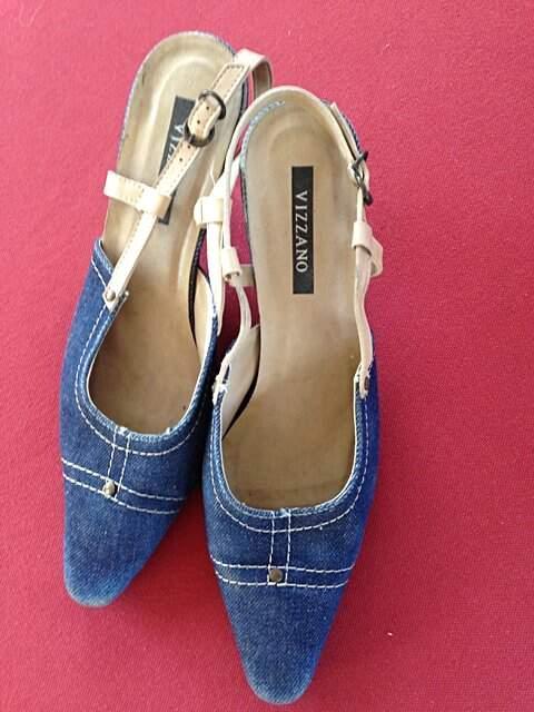 Scarpin jeans Vizzano _foto de costas