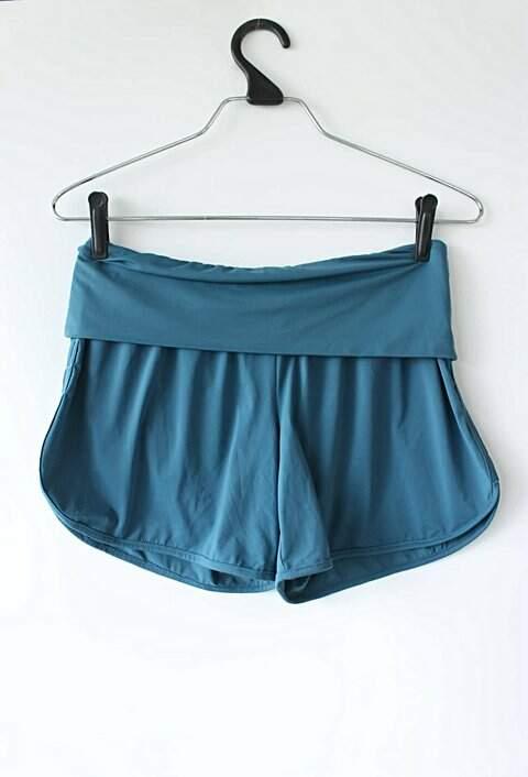Shorts de Academia Azul Petróleo_foto principal