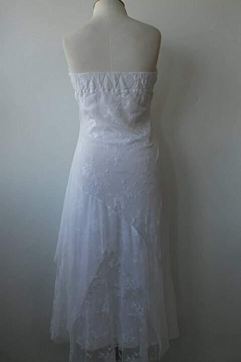 Vestido de Renda Longo _foto de costas