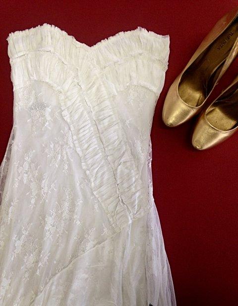 Vestido de Renda Longo _foto de detalhe