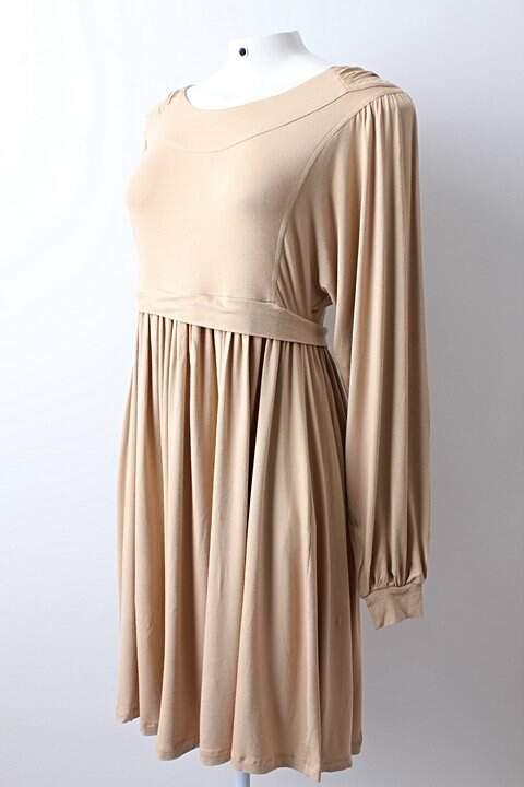 Vestido Juliana Jabour Modal Bege - TAM 42_foto de frente