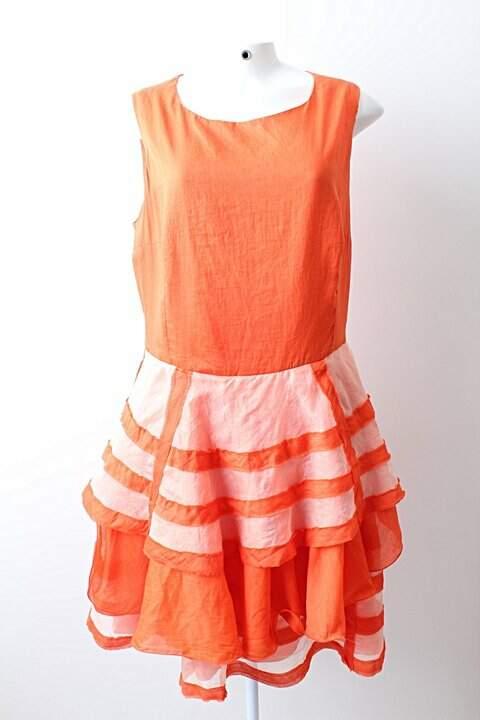 Vestido Aurea Prates Coral - TAM P._foto principal