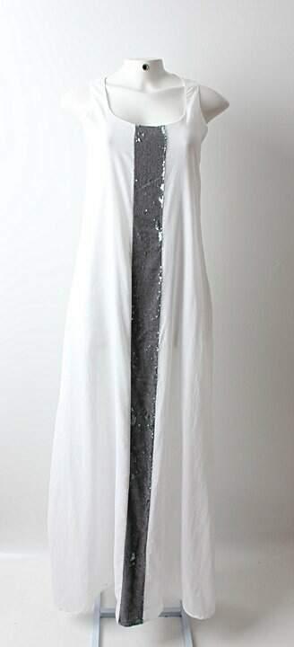 Vestido Auá Longo Branco - TAM 44_foto principal