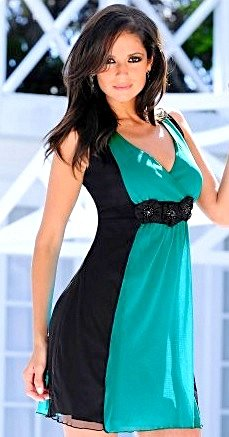 Vestido Azul Turquesa_foto principal